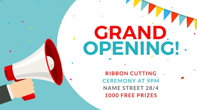 Free Grand Opening Flyer Templates Acurnamedia
