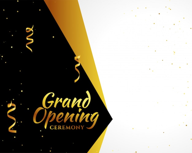Grand opening golden background Free Vector