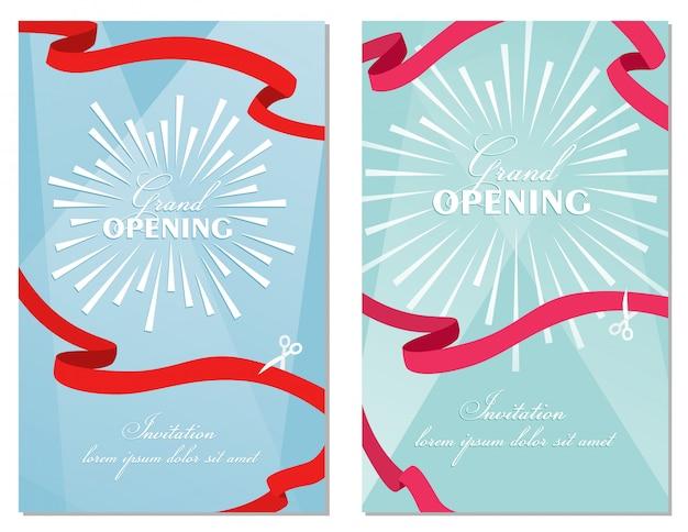Grand Opening Invitation Card Template Design Vector