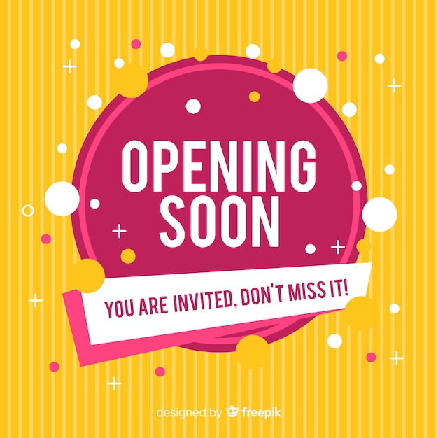 Grand opening soon, announcement design Free Vector