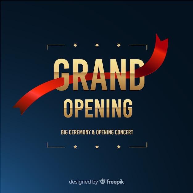 Presto inaugurazione, design dell'annuncio Vettore gratuito