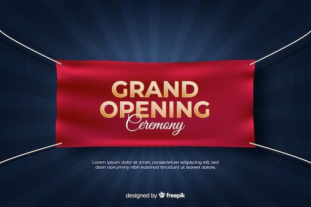 もうすぐグランドオープン、発表デザイン Premiumベクター