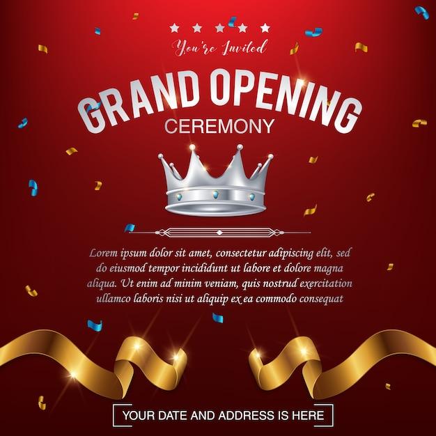 Grand opening vector background Premium Vector