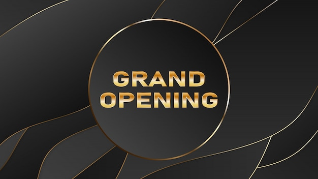Grand opening vector banner. festive template for opening ceremony Premium Vector