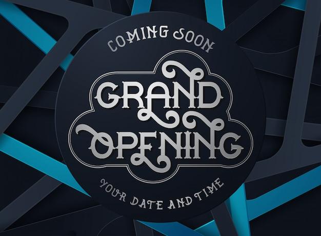 Grand opening vector banner Premium Vector
