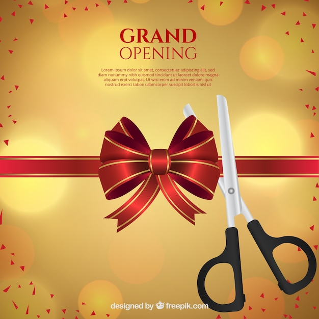 Grand opening with lovely style Free Vector
