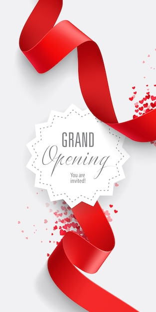 Grand opening you are invited lettering Free Vector