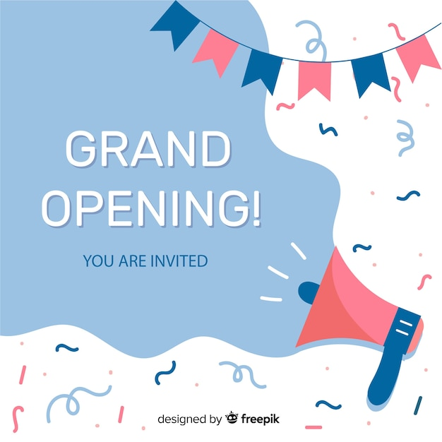 Grand opening Free Vector