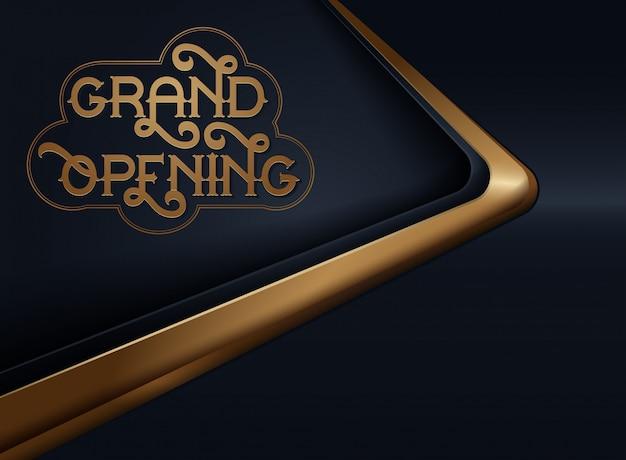 Grand opening Premium Vector
