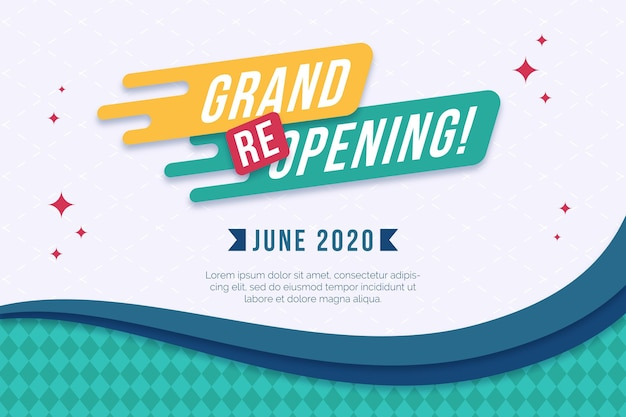 Grand re-opening background Premium Vector
