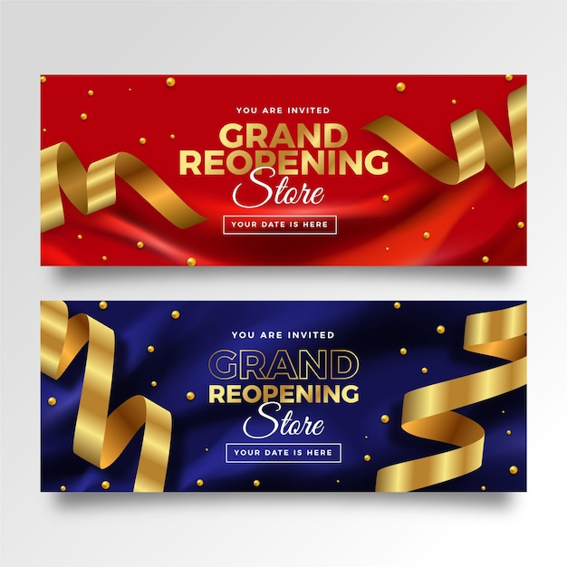 Grand re-opening banner Free Vector