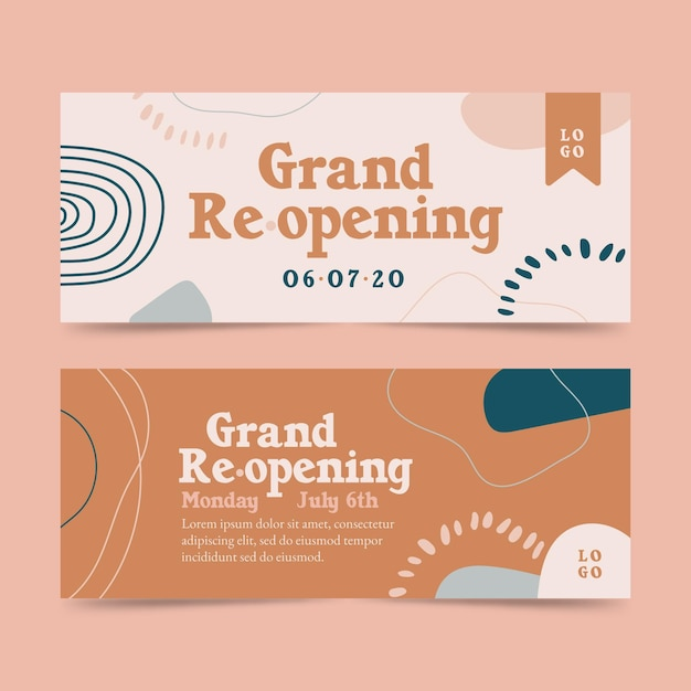 Grand re-opening soon banner template Free Vector