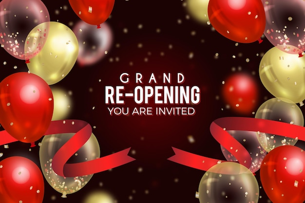 Grand re-opening wallpaper Free Vector