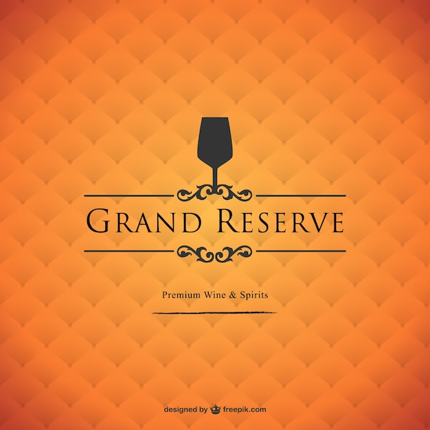 Grand reserve wine background Free Vector