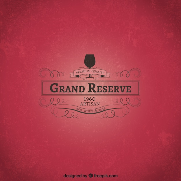 Grand reserve wine Free Vector