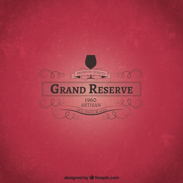 Grand reserve wine