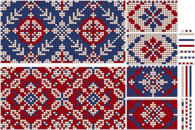 Grandma's christmas bundle of knitting patterns Premium Vector