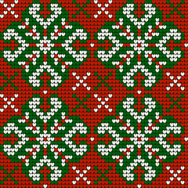 Grandma s christmas knitting pattern in red, green and ...