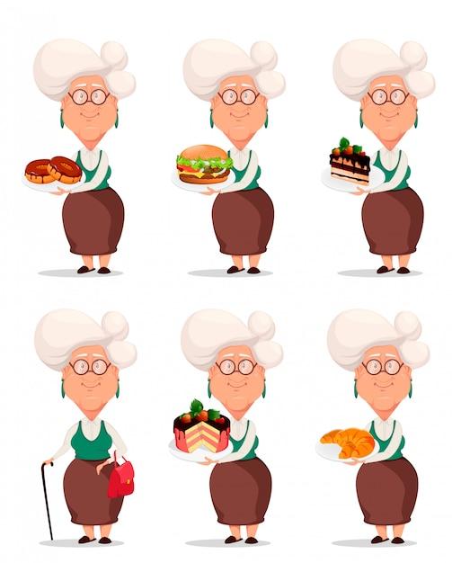 Grandmother in eyeglasses Premium Vector