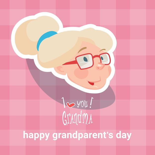 Grandmother happy grandparents day greeting card vector premium grandmother happy grandparents day greeting card premium vector m4hsunfo