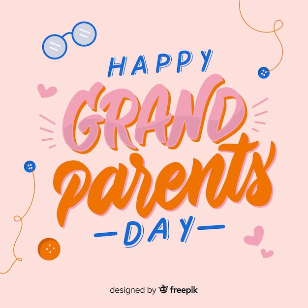 Grandparent's day composition with flat design Free Vector