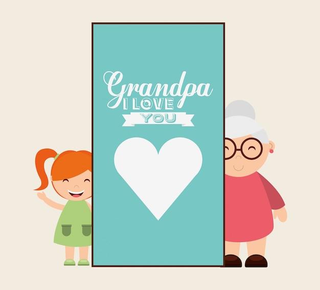 Grandparents concept design Free Vector