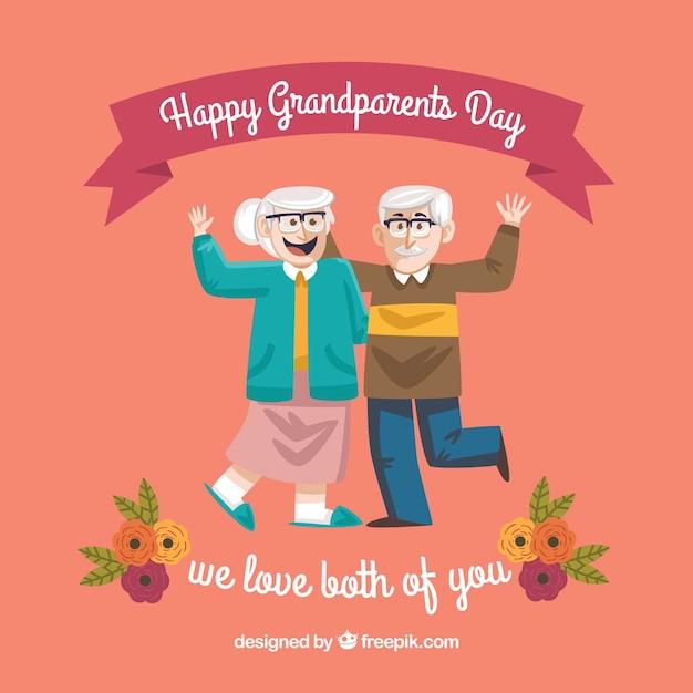 Grandparents day background in vintage design