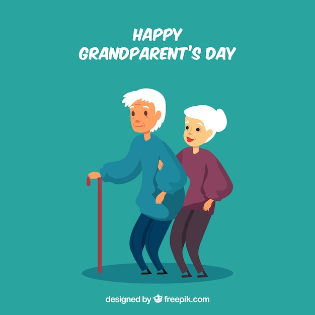 Grandparents day background Free Vector