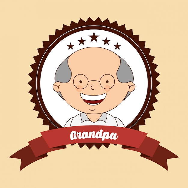 День бабушки и дедушки Premium векторы
