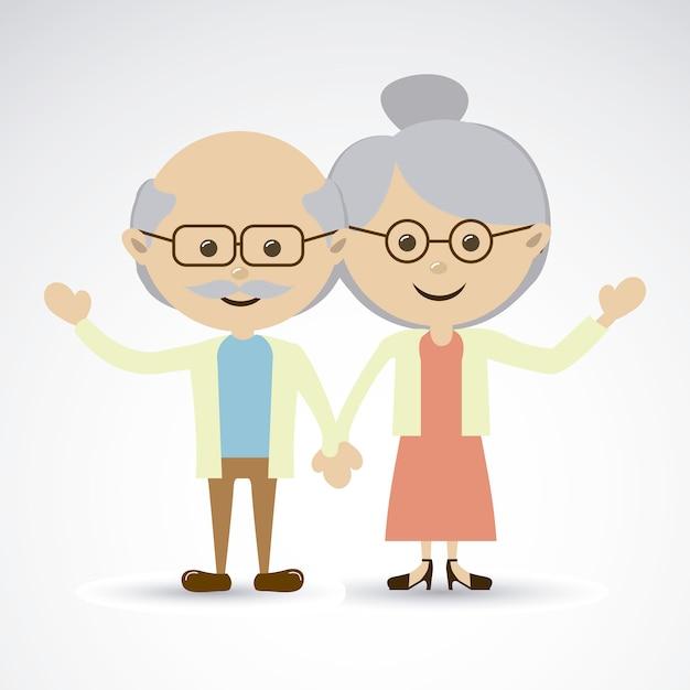 Grandparents Premium Vector
