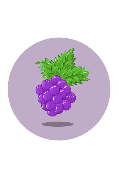 Иллюстрация винограда Premium векторы