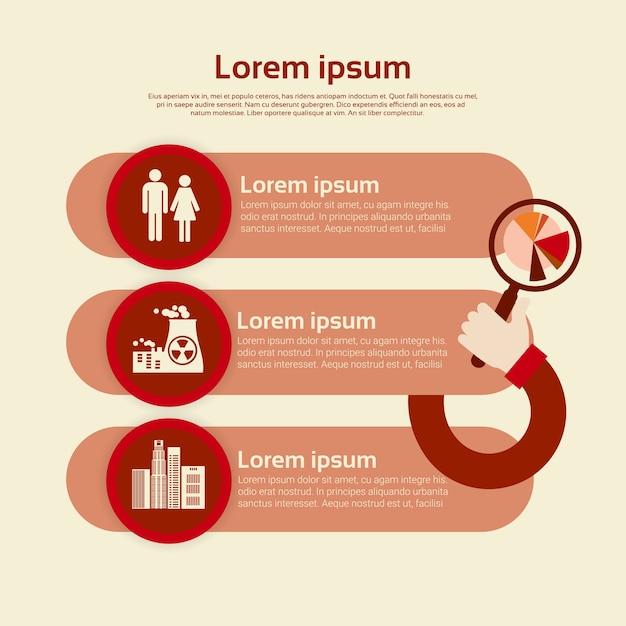Graph set environment diagram infographic Premium Vector