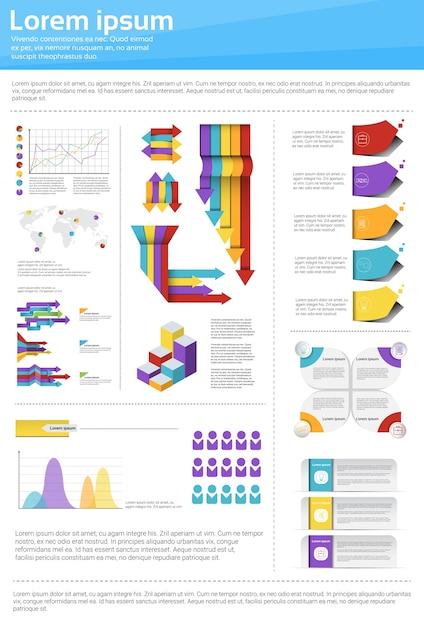 Graph Set Finance Diagram Infographic Icon Vector