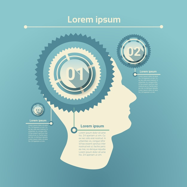 Graph set human infographic icon business network chart Premium Vector