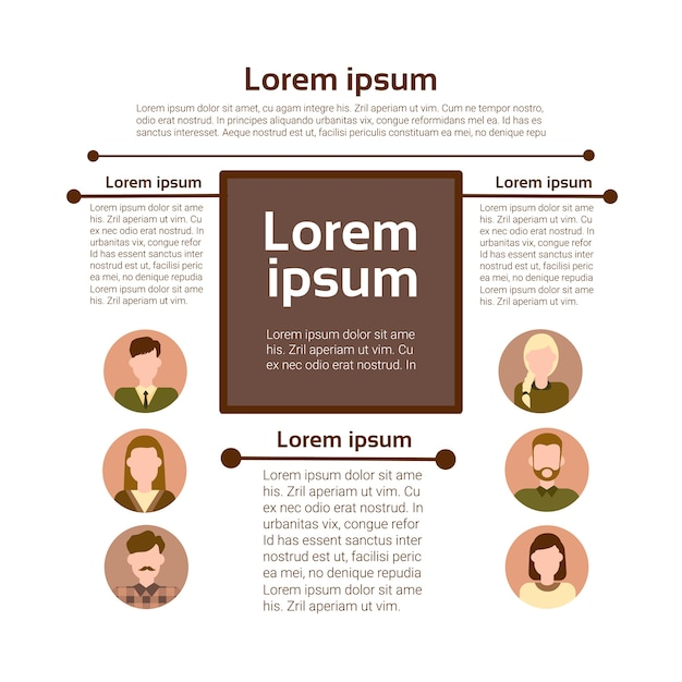 Graph set human resources infographic Premium Vector