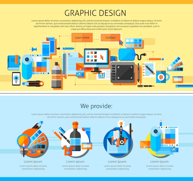 Graphic art page design Free Vector
