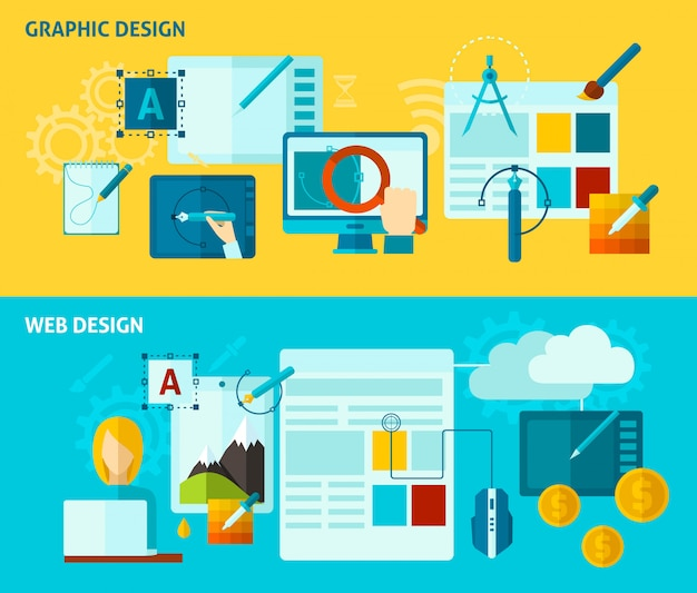 Graphic design banner Free Vector