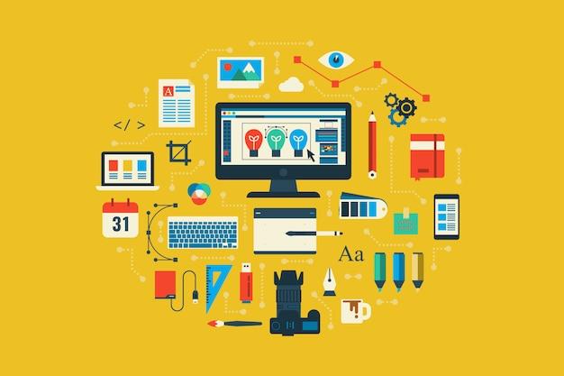 Graphic design concept Premium Vector