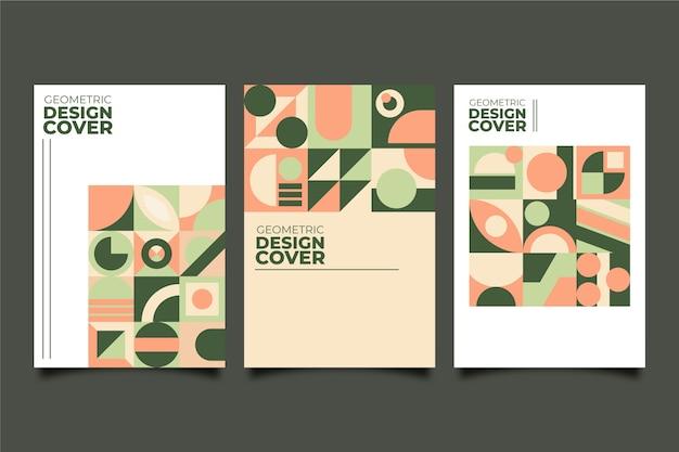 バウハウススタイルのグラフィックデザインカバーコレクション 無料ベクター