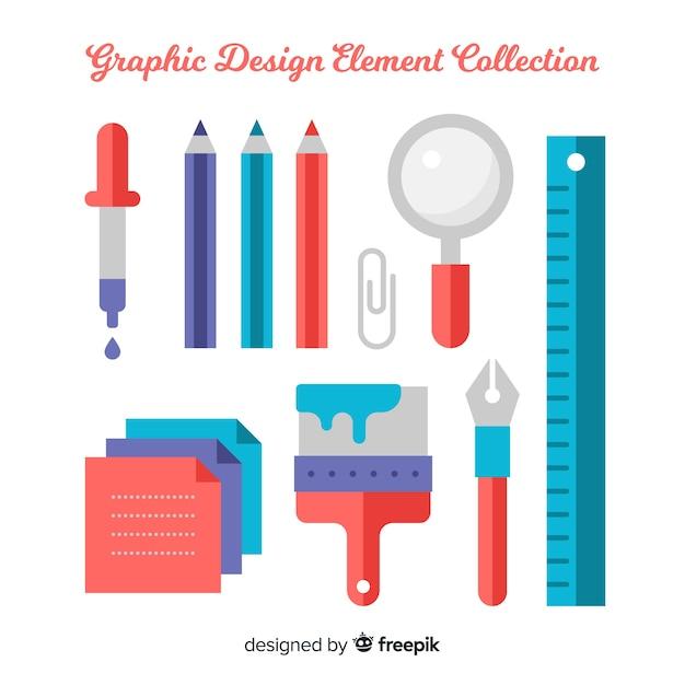 Коллекция элементов графического дизайна Бесплатные векторы