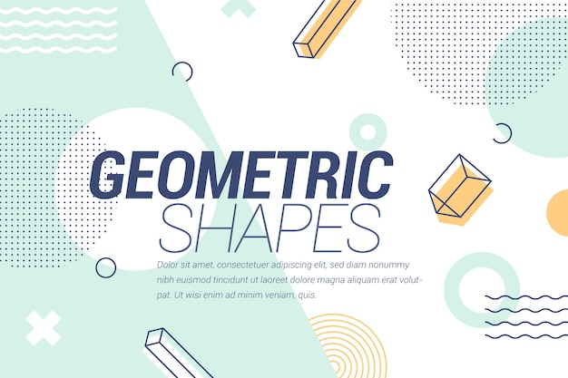 Graphic design geometric background Free Vector