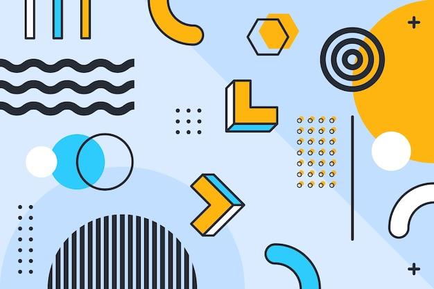 Graphic design geometric background Premium Vector