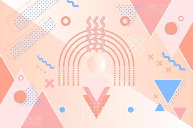 グラフィックデザインの幾何学的な背景 無料ベクター