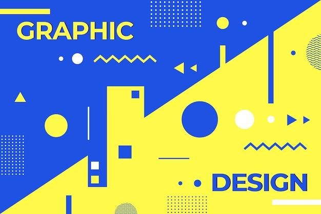 Graphic design geometric background Free Vector
