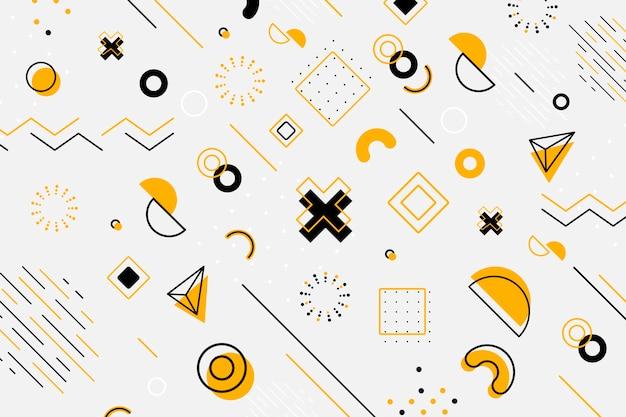 グラフィックデザインの幾何学的な壁紙 無料ベクター