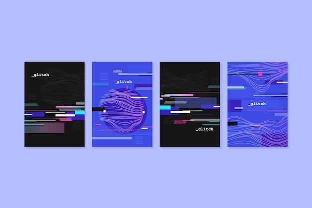 グラフィックデザイングリッチカバーコレクション 無料ベクター