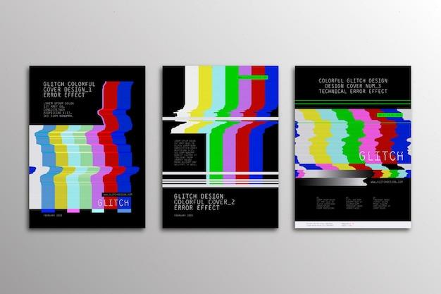 グラフィックデザイングリッチカバーセット 無料ベクター