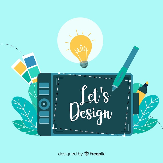 그래픽 디자인 아이디어 컨셉 프리미엄 벡터
