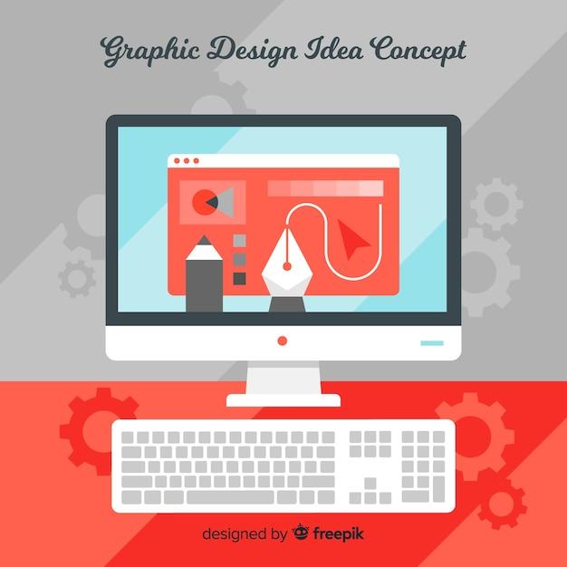 Идея графического дизайна Бесплатные векторы