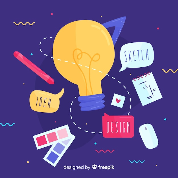 Graphic design idea concept Free Vector